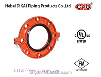 FM UL approved Ductile Iron Grooved pipe Fittings grooved flange