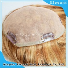Factory price wavy human hair toupee for women