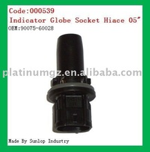 000539 toyota new hiace parts Indicator Globe Socket Hiace 2005 2006 2007 2008 indicator globe socket for hiace