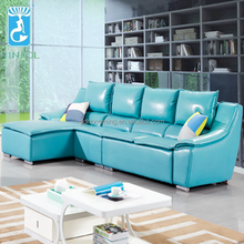Green Leather Royal Sofa For <strong>Modern</strong> Living Room Sofa Set