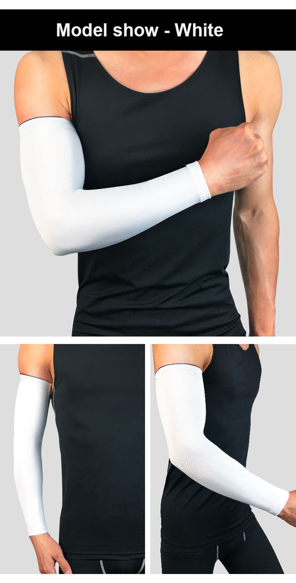 Custom Outdoor Sports UV Blank Compression Cooling Arm Sleeves