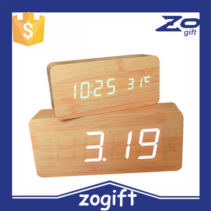 ZOGIFT Hot selling wooden flip clock with alarm digital wooden flip clock large wooden flip clock