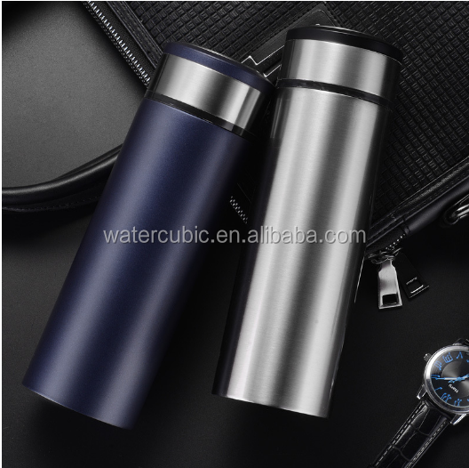 2017 hot sale stainless steel vacuum cup frosted leak-proof thermos water bottle High-grade Car Business People Insulation Cup