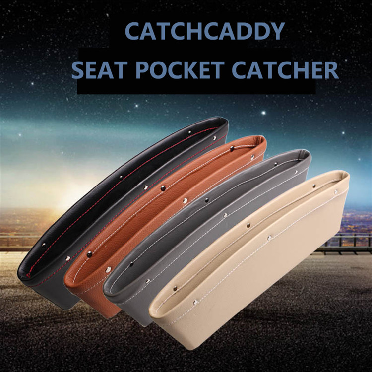 New design Xitai car accessories soft leather car console side pocket with high quality art.-no.d057