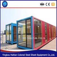 hot sael 40 feet cheap prefab container houses/ 1 bedroom prefab container home villa