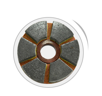 "JS 4"" - 10"" BUFFING PADS WITH RUBBER BASE"