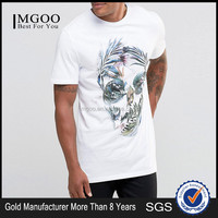 MGOO Wholesale100% Organic Cotton T Shirts Short Sleeve Split Hem Shirts Custom Logo With High Quality