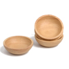 round cheap rubber wood dipping bowl