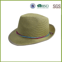 Ladies Ribbon Artificial Elegant Bohemia Straw Cap
