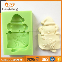 Christmas Fondant Silicone Mould Silicone bakery tools