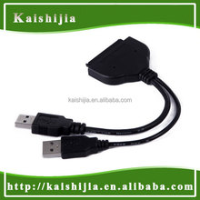 "High Quality USB 3.0 A to SATA 7+15 Pin Adapter Cable with Power for 2.5""/1.8"" SSD HHD Hard Drive Disk"