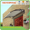 Outdoor canopy polycarbonate sheet for door with water gutter