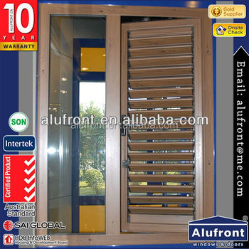 Aluminum Manual Shutter Window
