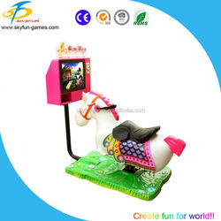 SKYFUN Top sale kiddie rides horse guangzhou with MP4 interactive games
