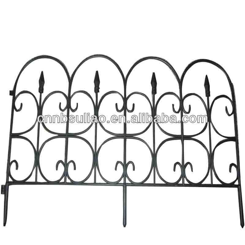 Black Decorative Plastic Garden Fence/garden Edging Fence   Buy Small Garden  Fence,Portable Garden Fence,Cheap Garden Fencing Product On Alibaba.com