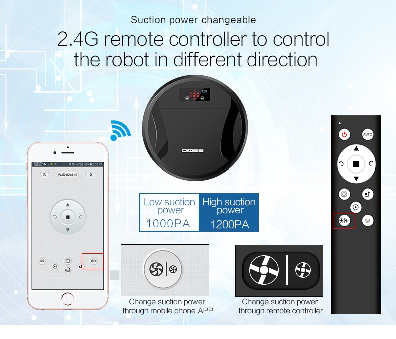 2016 APP WIFI control good robotic vacuum cleaner