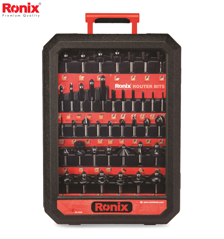Ronix Professional Woodworking Tool Router Bit Set 40 pcs RH-5340