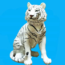 White polyresin tiger figurines