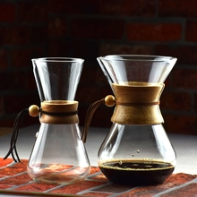 amazon glass hot sale new friendly wooden neck Eco Coffee espresso Chemex coffee brewer iced drip iced coffee maker