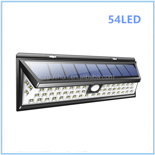 Outdoor Led Solar Lights For Garden Waterproof 54 Led Solar Power Light Motion Sensor
