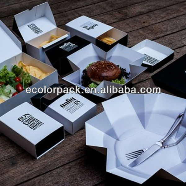 kreative fast food verpackungen box design karton produkt. Black Bedroom Furniture Sets. Home Design Ideas