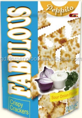 Sour Onion Flavor Fabulous Crackers