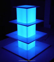 acrylic cake stands with lights