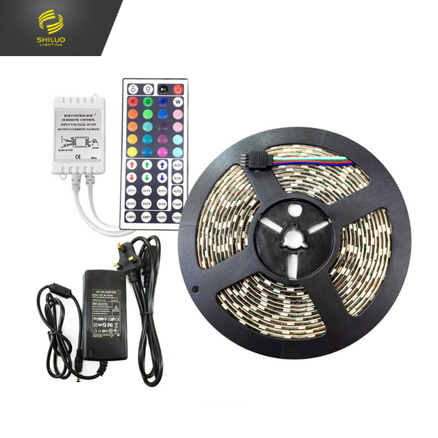 DC12V 5m/10M 5050 <strong>RGB</strong> IP65 LED Strip Light 44Keys IR Remoter and Adapter LED strip kit/set