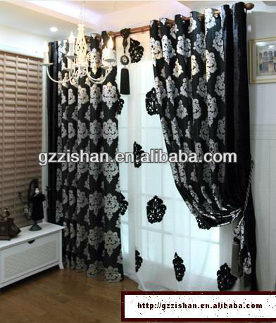 sound proof & thickening velvet fabric curtain for living room