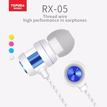 High quality color earpiece metal earphone with microphone