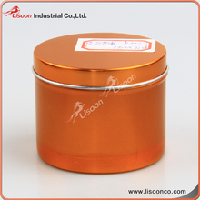 200g rose gold color printed larger round aluminium tin boxes