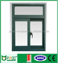 Double Glazing Built-in Blinds cheap Champagne color aluminum sliding window