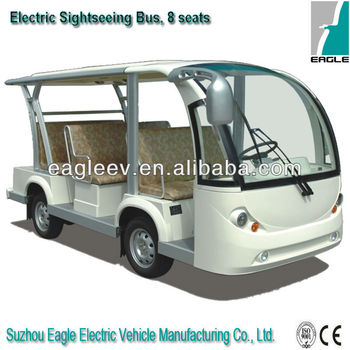 Electric sightseeing car, 8 seater, CE approved