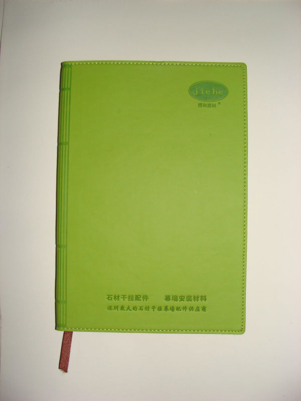 gift and promotions usage and embossed style handmade paper journal PU leather notebook