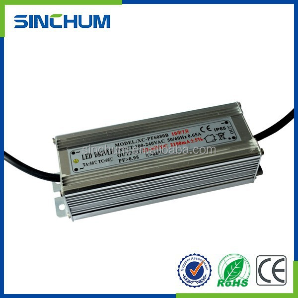 Zhongshan commutation alimentation 70 w led pilote