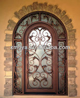 Unique home designs wrought iron grill double security door