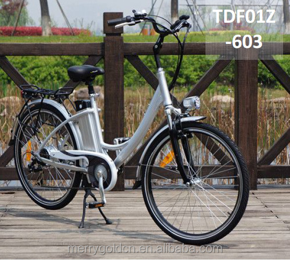 very cheap city life e bike with fashion style F/R disc brake on hot sale