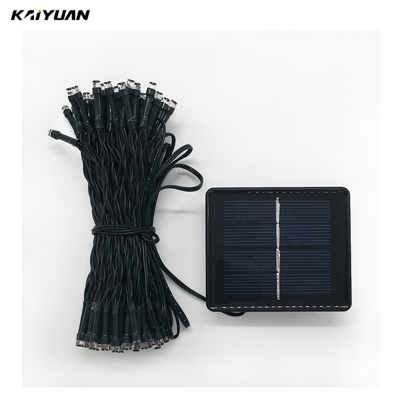 Rechargeable Type battery led warm white string lights solar