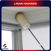 China manufactury OEM high quality Australian wool imported high-grade telescopic long handle ceiling duster