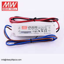 Mean Well 20W Waterproof IP67 LED Driver 350mA LPC-20-350