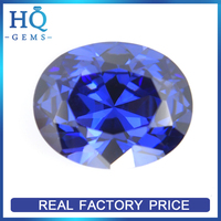 Hot Sale Lab Created Oval Blue Tanzanite/Tansanite CZ Gemstone