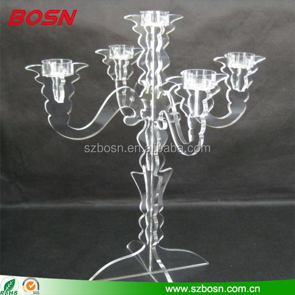 Elegant clear acrylic tree shape candle holder Perspex tealight stand decor