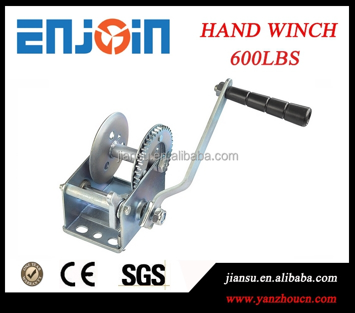 Manufacturer 600lbs small towing tractor car galvanized winch with CE SGS