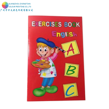 Promotional custom print educational english kids preschool exercise book