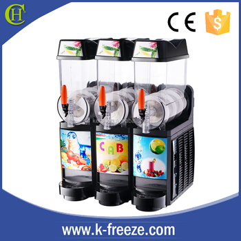 best popular slushie machine XRJ-12L matching with 3 tanks