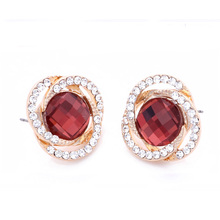 Ear clip high-grade allergy free color preserving 2014 wholesale rhinestone women fashion earring