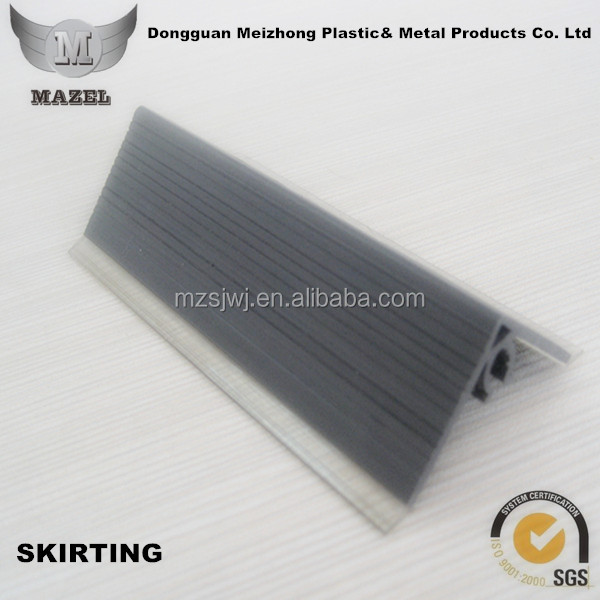 Decorative plastic skirting PVC extrusion profile with clear water ruber