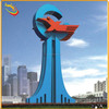 urban large Colored Metal 304 Stainless Steel Sculpture for Decoration