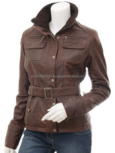 fashion padding jacket outdoor slim fit leather jackets for women