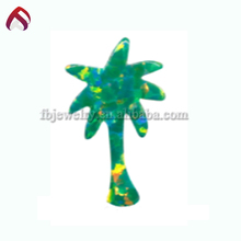 Customized Hawaiian lucky palm tree synthetic opal chip beads
